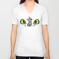 toothless V-neck T-shirts featuring Toothless by Ellador