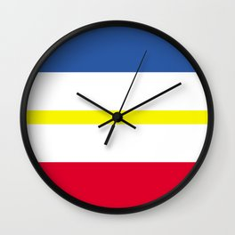 Mecklenburg Western Pomerania region flag germany province Wall Clock