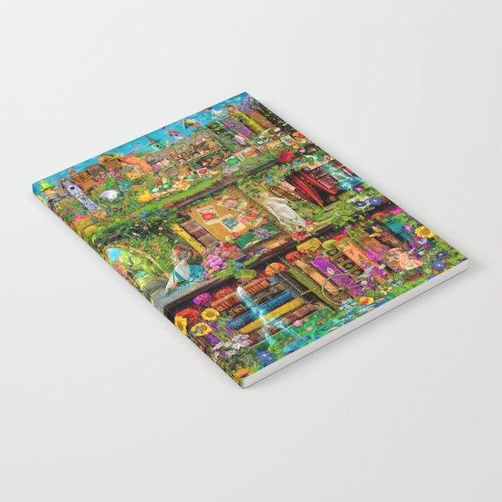 The Secret Garden Book Shelf Notebook