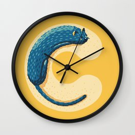 C for Cat Wall Clock