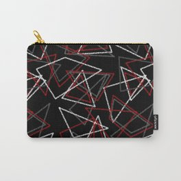 Abstract red black and white pattern . Triangles Carry-All Pouch