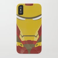 iron man iPhone & iPod Cases featuring IRON MAN by LindseyCowley