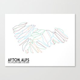 Afton Alps, MN - Minimalist Trail Art Canvas Print