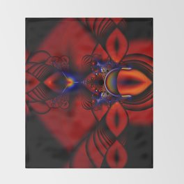 Ruby Abstract Stained Glass Window Throw Blanket