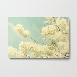 The Blossom and the Bee Metal Print