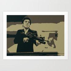 Scarface 3 Colour Print Art Print