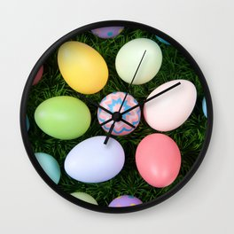 Easter Egg Extravaganza Wall Clock