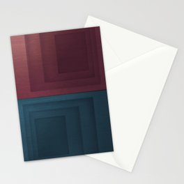 Geometric Frames Rose Mauve and Teal  Stationery Cards