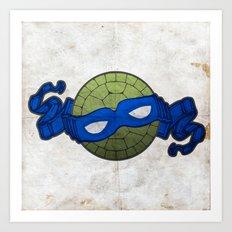 the blue turtle Art Print