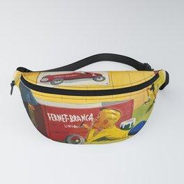 Retro Placard fernet - branca. gouache and watercolor maquette Fanny Pack