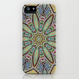Stained Glass Window - Mandala Art iPhone Case