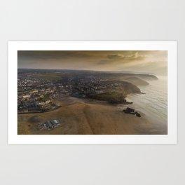Perranporth Vista Art Print