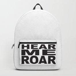 HEAR ME ROAR Pop Art Backpack