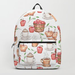 All About Apples Pattern -Food Pattern Backpack
