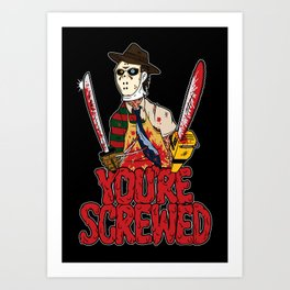 Slasher Mash (SFW) Art Print