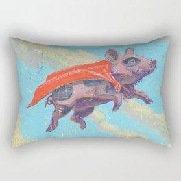 flying pig - by phil art guy Rectangular Pillow