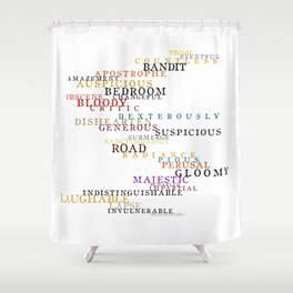 Word Inventions William Shakespeare Quote Art - Typography Shower Curtain