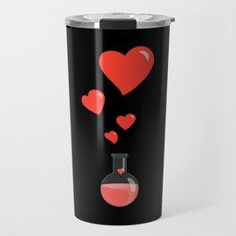Love Chemistry Flask of Hearts Travel Mug