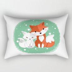 Foxy friends Rectangular Pillow