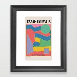 Ta-me Impala at Glastonbury gig poster Framed Art Print