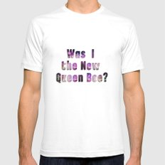 Was I the new QUEEN BEE? Quote from the movie Mean Girls White SMALL Mens Fitted Tee