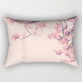 Parris in pink, Eiffel Tower and Cherrie Blossoms Rectangular Pillow