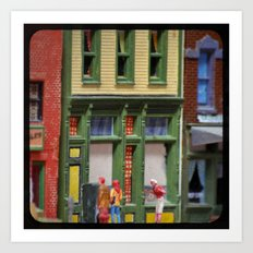 Oh, Hello! Small Town Downtown  Art Print