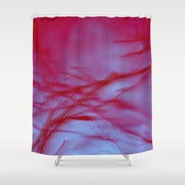 Pink Tree Blur Shower Curtain