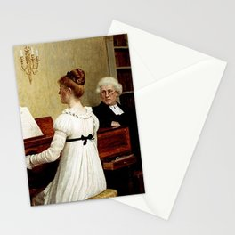 Edmund Leighton - Singing to the Reverend Stationery Cards