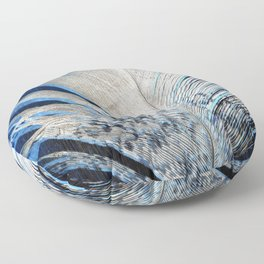 Feather | Feathers | Spiritual | White and Blue Feather | Nature Floor Pillow