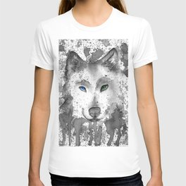 black and white : wolf T-shirt