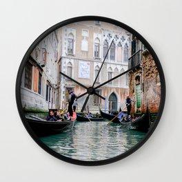 Gondola Ride Venice Italy Wall Clock