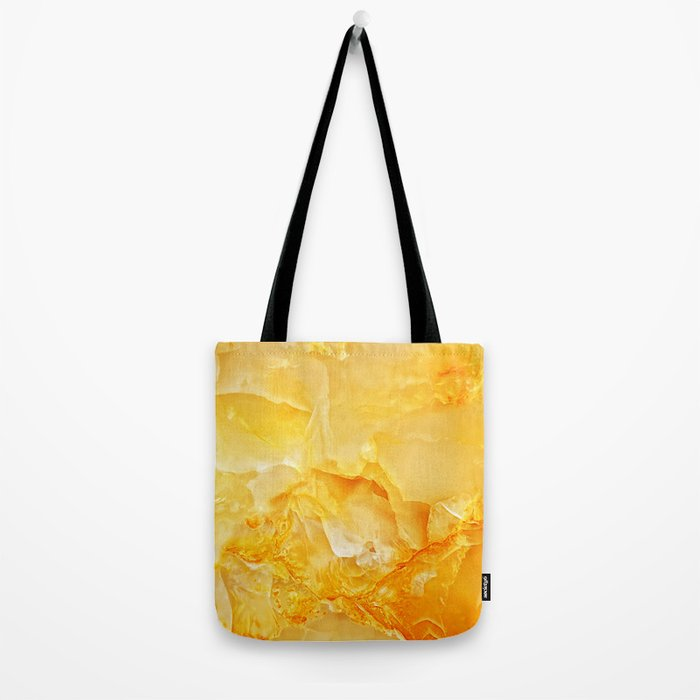 Yellow onyx marble Tote Bag