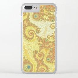 Citrus Swirl - Fractal Art Clear iPhone Case