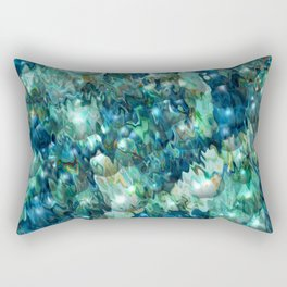 Blue Christmas Rectangular Pillow