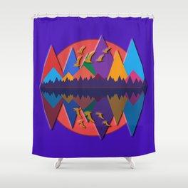 Mountain Scene #8 Shower Curtain