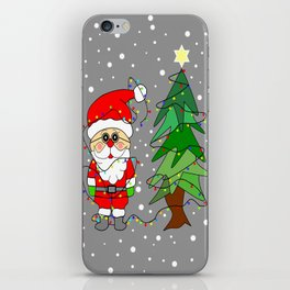 Playful Santa iPhone Skin