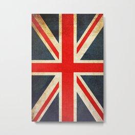 Vintage Union Jack British Flag Metal Print