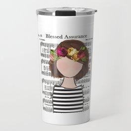 Blessed Assurance - Brunette Bob Travel Mug