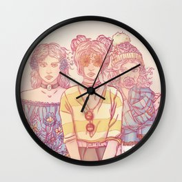 Three Wise Sisters Wall Clock