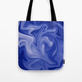 Marble Blues White Tote Bag