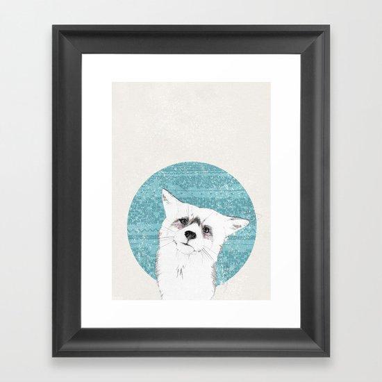 Waiting fox Framed Art Print