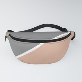 Grey and Dusty Pink Abstract Fanny Pack