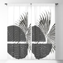 Contrast - Minimalism Mid-Century Modern Forms Blackout Curtain
