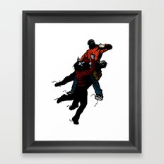 Hold On V2 Framed Art Print
