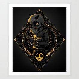 Goes to Skull Art Print