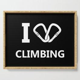 I Love Climbing Serving Tray