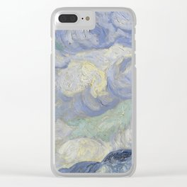 Wheatfield with Cypresses Clear iPhone Case