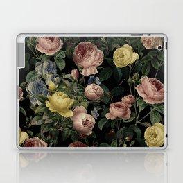 Vintage Roses and Iris Pattern - Dark Dreams Laptop & iPad Skin