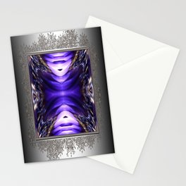 Blue Poppy Fish Abstract Stationery Cards